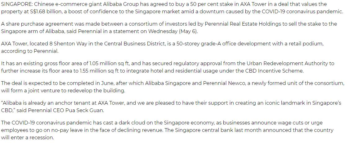 the-meyer-mansion-singapore-press-alibaba-bought-50percent-stake-in-AXA-tower